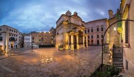 Santo Catherine del panorama de la iglesia de Italia Fotos de archivo