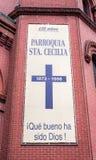 Santo Cecilia Roman Catholic Church en New York City imagenes de archivo