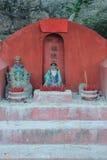 Santo cinese equipaggia al tempio di Tam Kung, tempio immagini stock