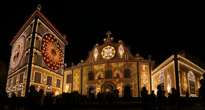 Santo Cristo Festival Images stock