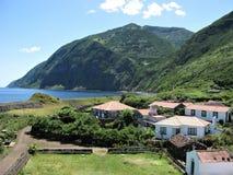 Santo Cristo, ilha de Jorge do Sao, os Açores fotografia de stock