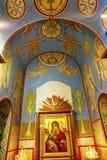 Santo de la basílica del icono de Barbara Shrine Ancient Mosaics Golden del santo Foto de archivo libre de regalías
