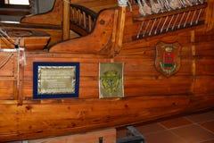 Santo Domingo, Δομινικανή Δημοκρατία Αναπαραγωγή σκαφών του Columbus ` Μουσείο μέσα στο φάρο του Christopher Columbus Στοκ Εικόνα