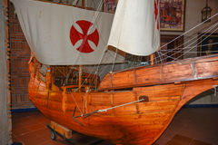Santo Domingo, Δομινικανή Δημοκρατία Αναπαραγωγή σκαφών του Columbus ` Μουσείο μέσα στο φάρο του Christopher Columbus στοκ φωτογραφία με δικαίωμα ελεύθερης χρήσης