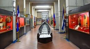 Santo Domingo, Δομινικανή Δημοκρατία Πιρόγα Tainos, μουσείο μέσα στο φάρο του Christopher Columbus Στοκ Φωτογραφία