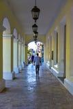 Santo Domingo, Δομινικανή Δημοκρατία Στοά του συστατικού παλατιού Στοκ Εικόνες