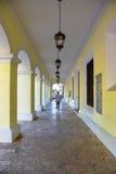 Santo Domingo, Δομινικανή Δημοκρατία Στοά του συστατικού παλατιού Στοκ φωτογραφία με δικαίωμα ελεύθερης χρήσης