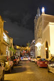 Santo Domingo, Δομινικανή Δημοκρατία Calle Duarte, (οδός του Duarte) το βράδυ Στοκ Εικόνα