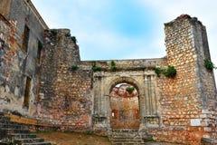 Santo Domingo, Δομινικανή Δημοκρατία Monumento Ruinas de Σαν Φρανσίσκο Το μοναστήρι της αποικιακής ζώνης του Σαν Φρανσίσκο Στοκ Φωτογραφία