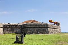 Santo Domingo Bulwark. Bulwark of Santo Domingo in Cartagena de Indias Royalty Free Stock Photography