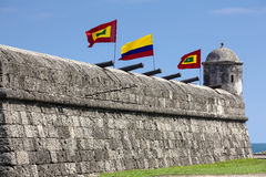 Santo Domingo Bulwark. Bulwark of Santo Domingo in Cartagena de Indias Stock Image