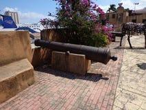 Santo Domingo cannon gun bay view stock images
