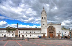 Santo Domingo church in downtown Quito Royalty Free Stock Photos