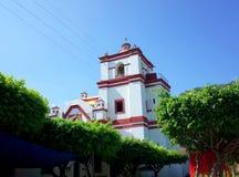 Santo Domingo Church na cidade de Chiapa de Corzo imagens de stock
