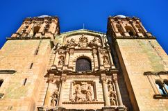 Santo Domingo Church in Oaxaca. Looking up view Stock Images