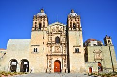 Santo Domingo Church in Oaxaca front. View Royalty Free Stock Photography