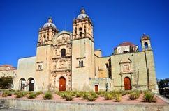 Santo Domingo Church in Oaxaca, Mexico. Santo Domingo Church in Oaxaca quarter angled view Stock Images