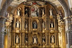 Santo Domingo Church, Puebla, México foto de stock royalty free