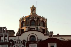 Santo Domingo Church, Puebla, México Imagem de Stock