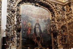 Santo Domingo Church, Puebla, México imagens de stock royalty free