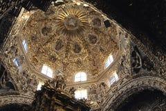 Santo Domingo Church Puebla, Mexico arkivbilder