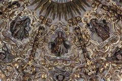 Santo Domingo Church Puebla, Mexico Royaltyfri Bild