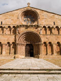 Santo Domingo church in Soria stock photo