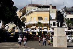 Santo Domingo Colonial Zone street scene royalty free stock photos