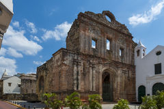 Santo Domingo Convent in Casco Viejo, de Stad van Panama Royalty-vrije Stock Afbeelding