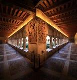 Santo Domingo de Silos. Claustro Romanico del Monasterio de Santo Domingo de Silos Stock Images