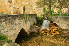 Santo Domingo de Silos waterfall Royalty Free Stock Photos