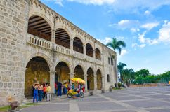 Santo Domingo, Dominican Republic. Alcazar de Colon, Diego Columbus residence situated in Spanish Square. Stock Photo