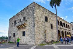Santo Domingo, Dominican Republic. Alcazar de Colon, Diego Columbus residence situated in Spanish Square. Stock Images