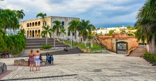 Santo Domingo, Dominican Republic. Alcazar de Colon, Diego Columbus residence situated in Spanish Square. Stock Image