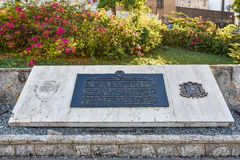 Santo Domingo, Dominican Republic. Bronze plaque in Spanish Square, Colonial City of Santo Domingo. Stock Image