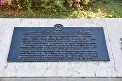 Santo Domingo, Dominican Republic. Bronze plaque in Spanish Square, Colonial City of Santo Domingo. Stock Photos