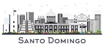 Santo Domingo Dominican Republic City Skyline avec Gray Building illustration de vecteur