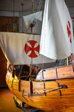 SANTO DOMINGO, DOMINICAN REPUBLIC. Columbus` ships reproduction. Museum inside the Lighthouse of Christopher Columbus. Royalty Free Stock Photos