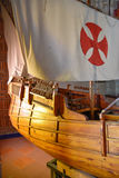 SANTO DOMINGO, DOMINICAN REPUBLIC. Columbus` ships reproduction. Museum inside the Lighthouse of Christopher Columbus. Stock Image