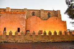 Santo Domingo, Dominican Republic. Columns close-up of Basilica Cathedral of Santa María la Menor. Royalty Free Stock Photos