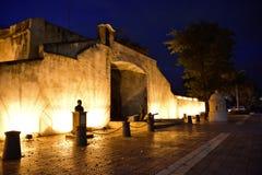 Santo Domingo, Dominican Republic. El Conde door in the evening. Stock Photos