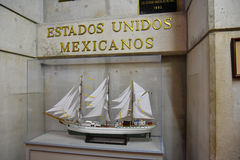 SANTO DOMINGO, DOMINICAN REPUBLIC. Mexican stand. Museum inside the Lighthouse of Christopher Columbus. Stock Images