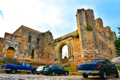 Santo Domingo, Dominican Republic. Monumento Ruinas de San Francisco. The Monastery of San Francisco Colonial Zone. Royalty Free Stock Photography