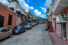SANTO DOMINGO, DOMINIKAŃSKA republika PAŹDZIERNIK 30, 2015: Ulica w Santo Domingo Fotografia Royalty Free