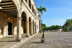 Santo Domingo, Dominikanische Republik Alcazar de Colon (Diego Columbus House), spanisches Quadrat Stockbild
