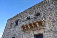 Santo Domingo Dominikanska republiken Alcazar de Kolon (Diego Columbus House), spanjor kvadrerar royaltyfri bild