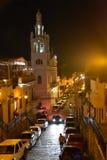 Santo Domingo Dominikanska republiken Calle Duarte (den Duarte gatan) i aftonen Royaltyfria Foton