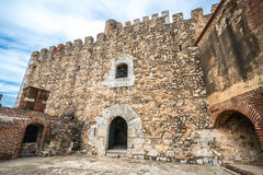 Santo Domingo fortress walls - Ozama fortaleza Royalty Free Stock Image
