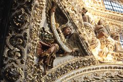 Santo Domingo kościół, Puebla, Meksyk zdjęcia royalty free
