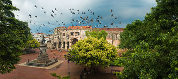 Santo Domingo Main Square Royalty Free Stock Photo